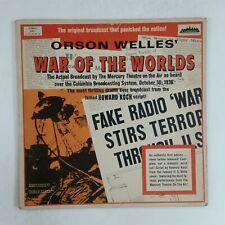 ORSON WELLES War of the Worlds 4001 Dbl LP Vinyl VG+ near ++ Cover VG+ GF