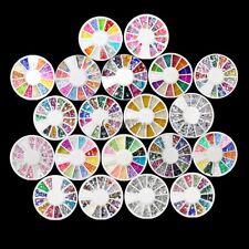 Wheel Nail Art 3D Mixed Fimo Decoration Tips Multicolor Slice Pattern Wheel CO99