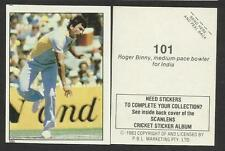 AUSTRALIA 1983 SCANLENS CRICKET STICKERS SERIES 2 - ROGER BINNY (INDIA) # 101