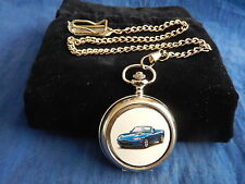 MAZDA MX5 CONVERTIBLE  CHROME POCKET WATCH WITH CHAIN (NEW) (3)