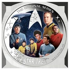 2016 Star Trek: U.S.S Enterprise NCC-1701 Crew  2oz Silver Proof Coin Perth Mint