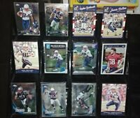Patriots RC rookie card Chrome Prizm Optic lot Wes Welker Malcolm Mitchell ++