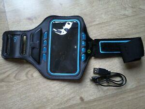 [Break] Arm Band Sport Phone Holder Case Run Gym USB Charge LED Light Jog Mobile