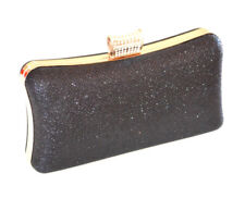 POCHETTE NERA ORO borsello clutch donna elegante borsa borsetta cerimonia  E160 e106726e7b4