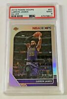 2019-20 Panini NBA Hoops Silver 119/199  PSA 9 Lebron James #87 Los Angeles