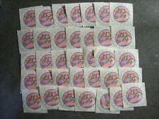 "35 Ct Vintage Small World Greetings Angel Teddy Bear/Baby Unused 2"" Sticker Lot"