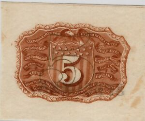 Fr.1232WM 2nd issue 5¢ Specimen - Sharp Note - Great color - CU