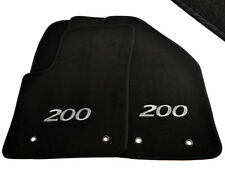 Floor Mats For Chrysler 200 Convertible 2010-2014 Black Tailored Carpets LHD NEW
