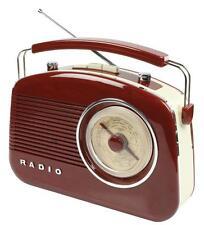 RADIO DESIGN RETRO AM FM PORTABLE MARRON GRAND ECRAN ROTATIF GRADUE