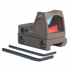 Tactical Reflex Adjustable Ultra Mini Red Dot Sight Scope for Airsoft Tan