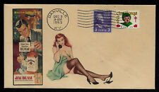 1953 Jim Beam Ad Featured on Xmas Collector's Envelope *XS124
