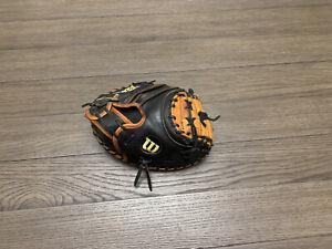 "Wilson A2000 Pudge 32.5"" Catchers Mitt Baseball Glove Black Tan"