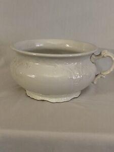 Vintage J&E Mayer Semi Vitreous China chamber pot (bedpan)
