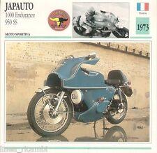 Scheda moto plastificata JAPAUTO 1000 Endurance 950 SS - Moto sportiva - 1973