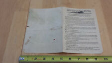 American Flyer S Scale - Worm Drive Locomotive w/ Smoke Unit Instruction Sheet