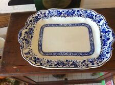 Corona Ware Blue And White Meat Platter Stoke On Trent  Rd No 691032