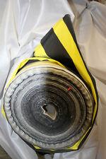 2 Meter Stoff 1,30 m breit Meterware gestreift Streifen schwarz dunkelgelb