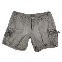 American Eagle Outfitters Women 6 Khaki Cargo Hiking Shorts Cotton Pockets Tan