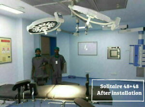Examination OT Light Operation theater Surgical LED OT Lamp Solitaire 48+48 Dual
