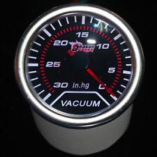 "Pointer 2"" 52mm Car Universal Smoke Len LED Vacuum Gauge Meter In.Hg HY"
