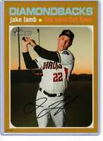 Jake Lamb 2020 Topps Heritage 5x7 Gold #366 /10 Diamondbacks