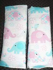 Handmade Capsule/Car/Pram/high Chair Padded Seat Belt Covers Baby Elephants (B)