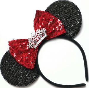 Heart Headband Sequin Shiny Party Solid PU Handmade Hairband Premium