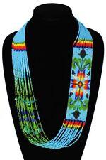 Story Spirit Necklace Fair Trade Jewelry Ne149-526 Blue Glass Crystal Beads Star