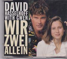 David Hasselhoff With Gwen-Wir Zwei Allein cd maxi single