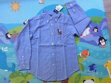 Kids Ralph Lauren Cotton Shirt Big Pony-size6 Blue