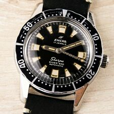 ENICAR SHERPA DIVER 600 - VINTAGE AUTOMATIC -  UNTOUCHED - MILITARY STYLE STEEL