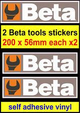 2x Outils Beta stickers Motorsport sponsor Boîte à Outils Atelier Voiture Van Camion Autocollant