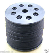 new 10ya 3mm black Suede Leather String Jewelry Making Thread Cords hot