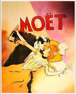 Moët MOET Champagne LARGE  METAL TIN SIGN POSTER WALL PLAQUE