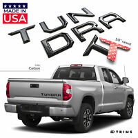 Chrome 3D Raised Tailgate Decal Letters SUPAREE TUNDRA 2014-2020 Tailgate Insert Letters