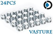 24 Chrome Wheel Mag Lug Nuts 12X1.5 Closed Mag Seat Type For TOYOTA Tacoma Camry