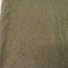 Flowers JoAnn Fabric Cotton Olive 1 3/4 Yard Piece