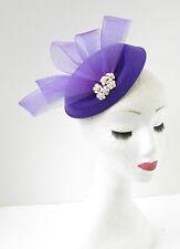Violet Or Ivoire Perle Casemate Chapeau Bandeau De Bibi Courses Vintage 1940s