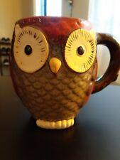 New listing Owl Coffee Mug Large 20oz Ceramic Figural Fall Autumn Halloween Thanksgiving