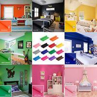 PVC Pure Color Wall Sticker Cabinet TV Backdrop Furniture Renovation Decor Decal