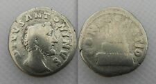 COLLECTABLE ANTONINUS PIUS (AD 161) ROMAN SILVER DENARIUS COIN - LOT 1