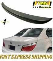 Unpainted FOR BMW E60 5-Series Sedan 4D AC Type Rear Trunk Spoiler ABS 530i 545i
