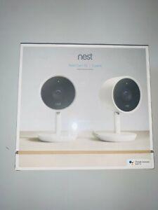 Nest Cam IQ NC3200US 1080p Indoor Security Camera - 2 Pieces, White