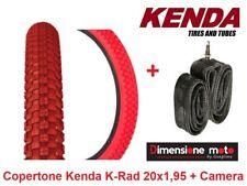 "Copertone ""KENDA"" 20x1,95 (50-406) K-RAD Rosso + Camera per Bici 20"" Trekking"