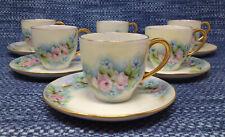 6 Set Vintage Hutschenreuther Selb Bavaria Demitasse Cups Saucers EUC