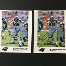 Kevin Donnalley Carolina Panthers #65 Guard Signed Photo Pair