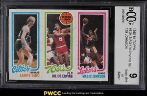 1980 Topps Basketball Larry Bird Julius Erving Magic Johnson ROOKIE RC BCCG 9