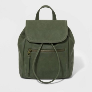 Women's Mini Flap Faux-Leather Backpack - Universal Thread - Green - S* P10