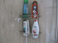 Promotion item 2 Tier Suction Fix Chrome Shower Caddy. Buy one get on Free