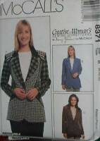 8371 McCalls SEWING Pattern Misses Lined Jacket UNCUT Nancy Zieman Creative OOP